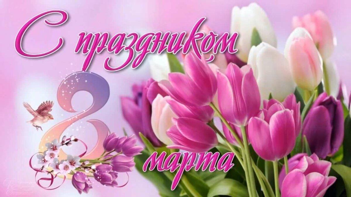 Котики, с 8 марта картинка с цветами