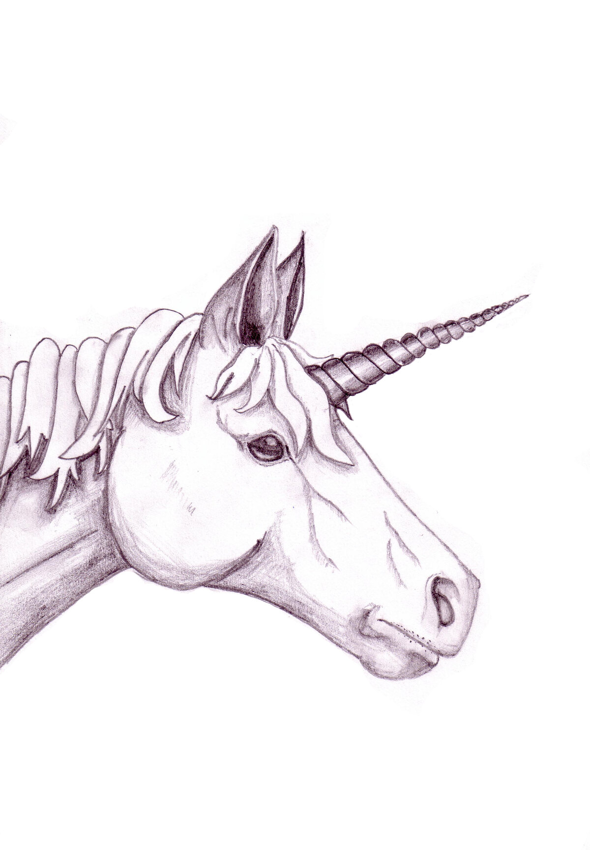 Простые рисунки карандашом прикольные единороги, одинокой
