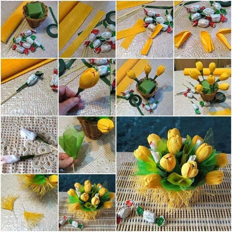 Цветов доставкой, простые букеты из конфет своими руками для начинающих