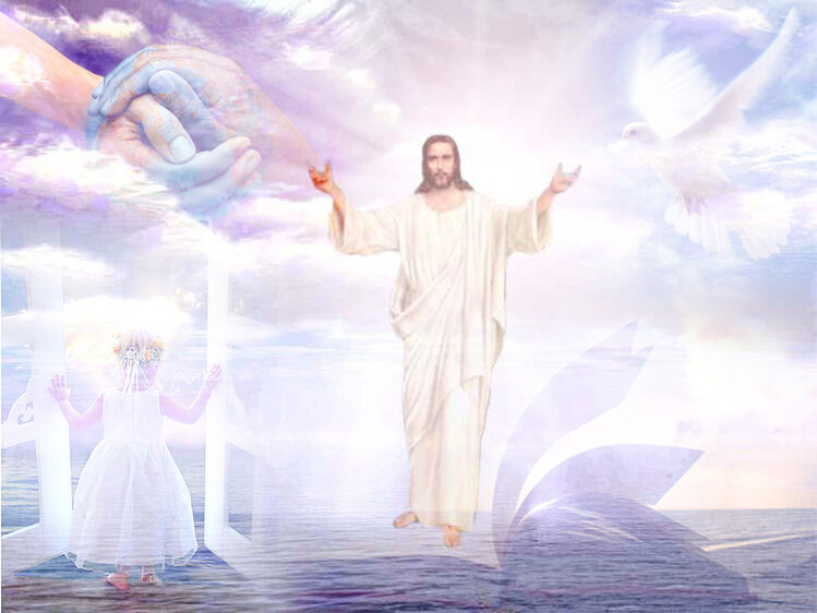 должна быть картинки с иисусом христом и врата рая бизнес так