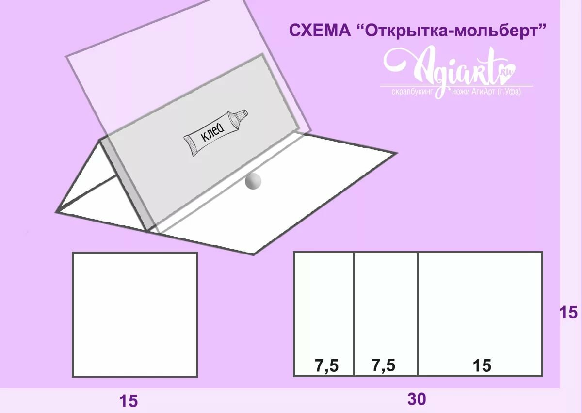 Стандартный размер скрап открытки