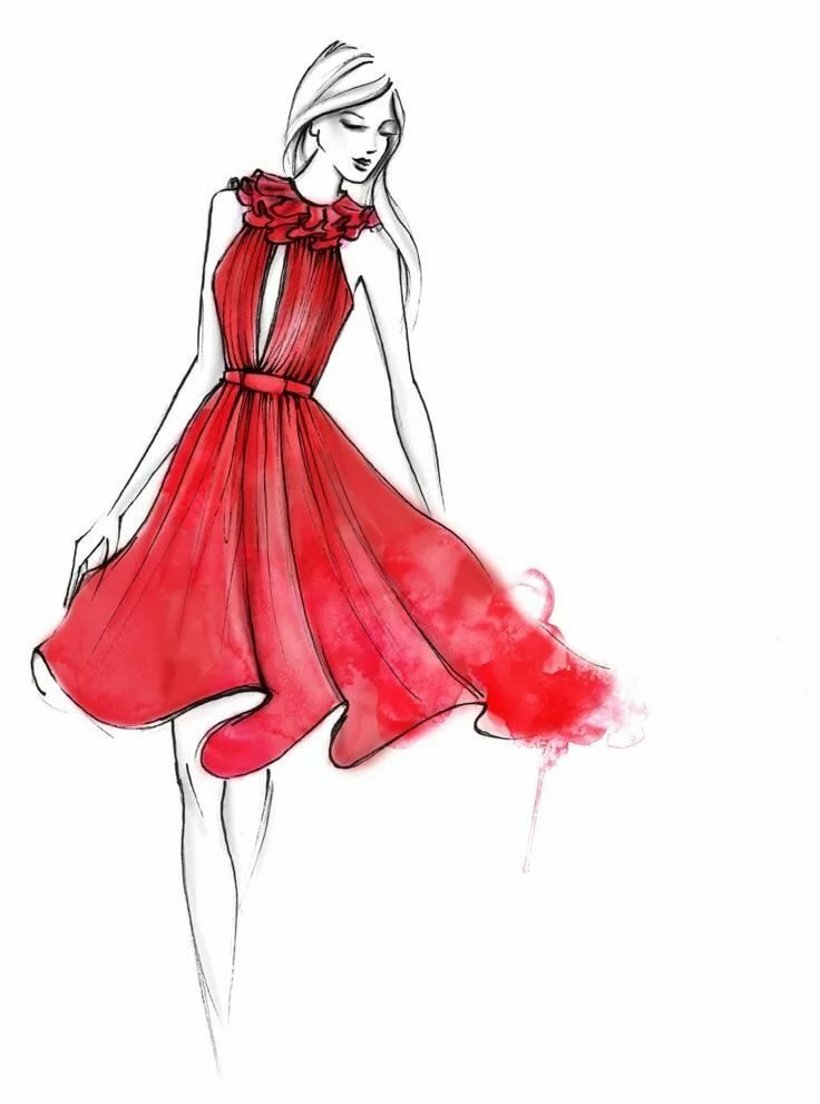 Дизайнерские платья картинки для срисовки