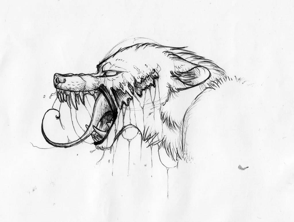 Красивые картинки для срисовки волки злые