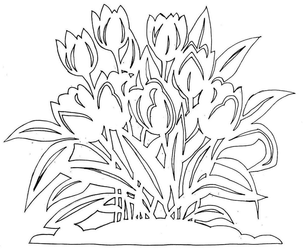 Шаблон букета цветов для вырезания, букеты цветов