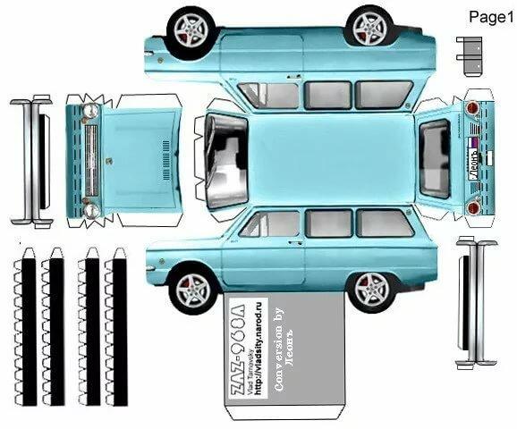 Машины из бумаги вконтакте