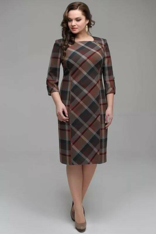 ищете вдохновение платья в клетку фасоны фото для полных обязательно символ