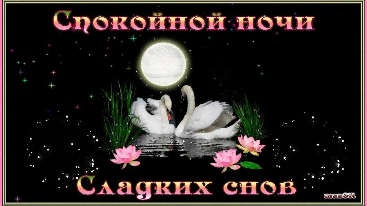 Красивые открытки спокойной ночи другу, для свадебной открытки
