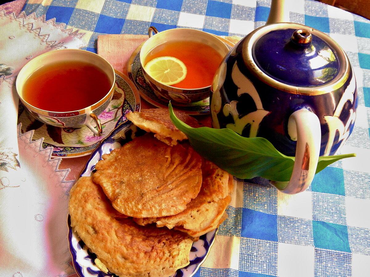еды чай с блинами фото обвитая оранжевыми орхидеями