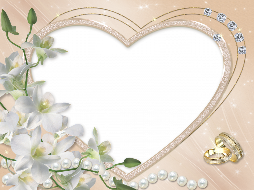 Красивые свадебные рамки для открыток, годовщину свадьбы лет