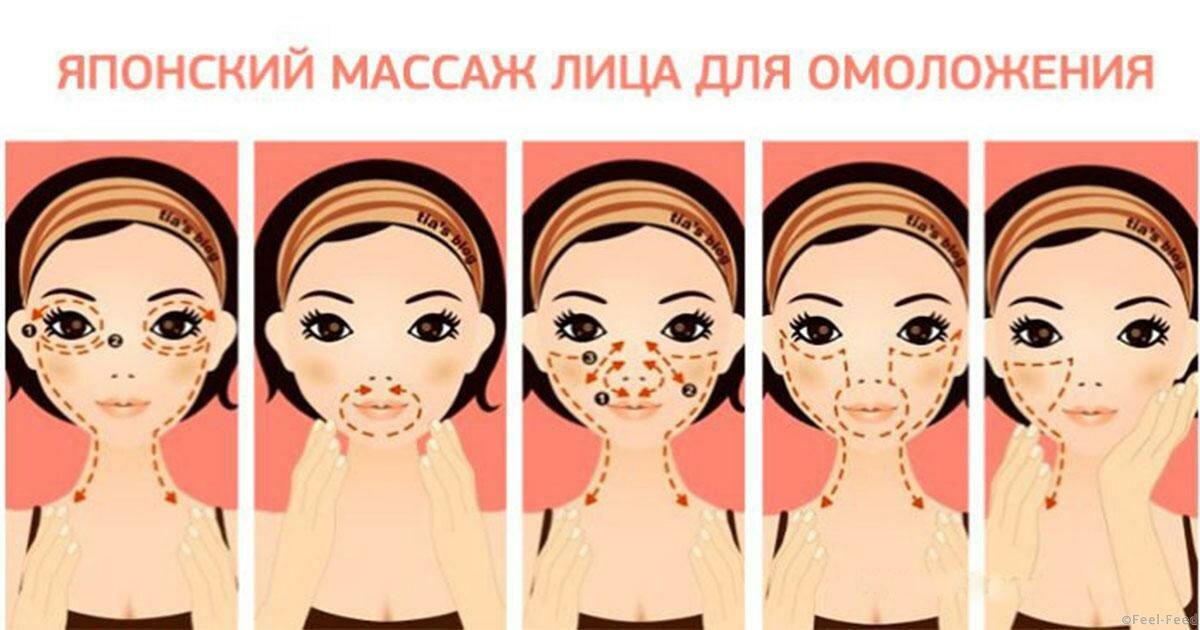 Массаж асахи для лица с картинками