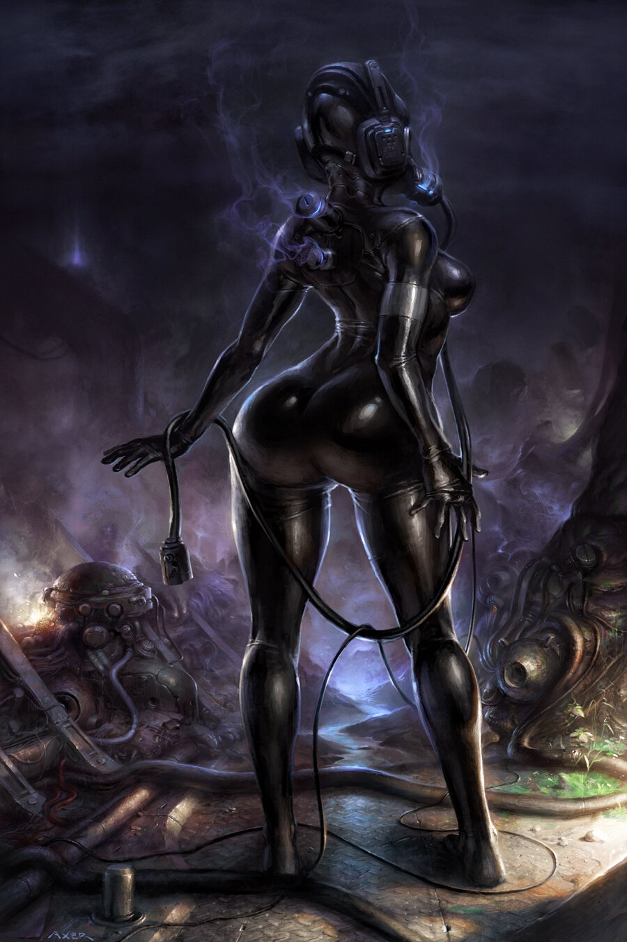 Sci fi babe nude, naked hot sexy wommanand sextoys
