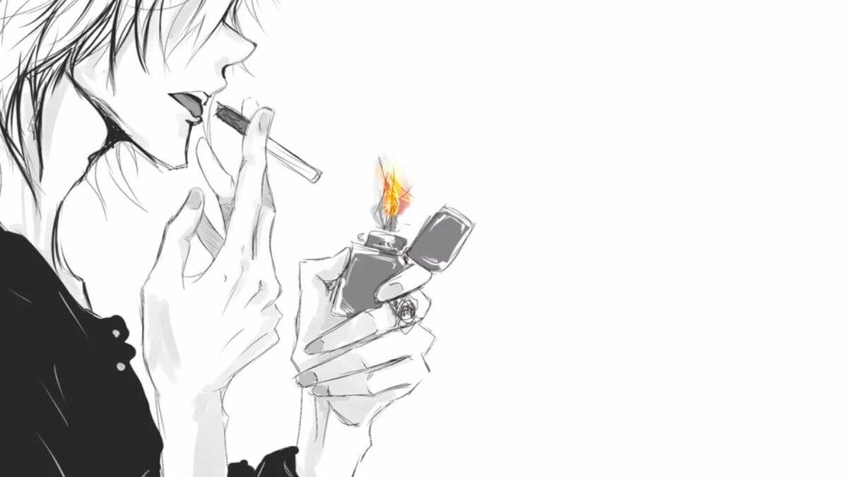 Сделать красивую, крутые картинки с дымом аниме