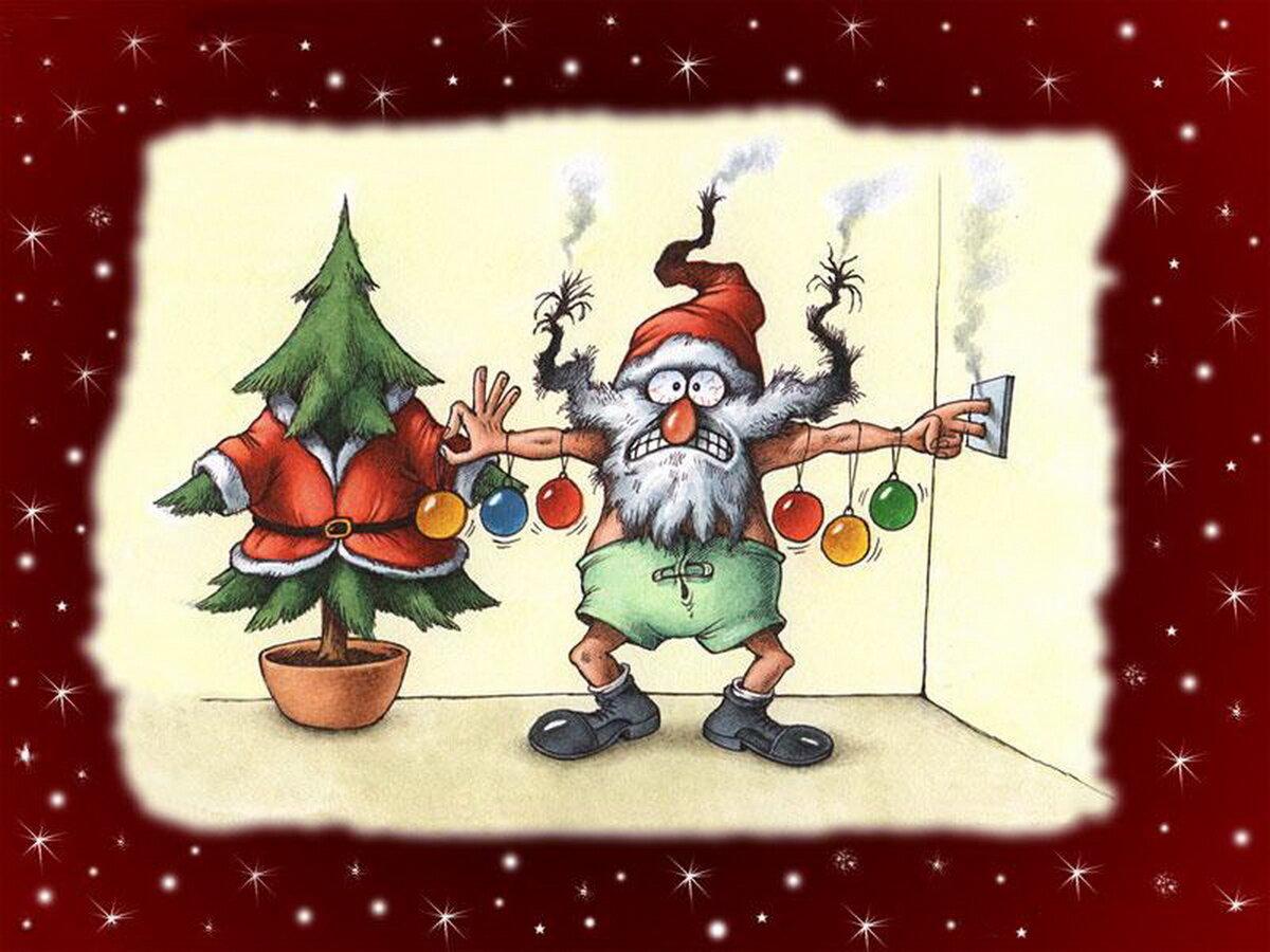 открыл крышку забавные новогодние открытки заглянуть