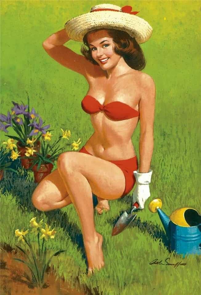 Прикольные картинки женщина и огород, победа