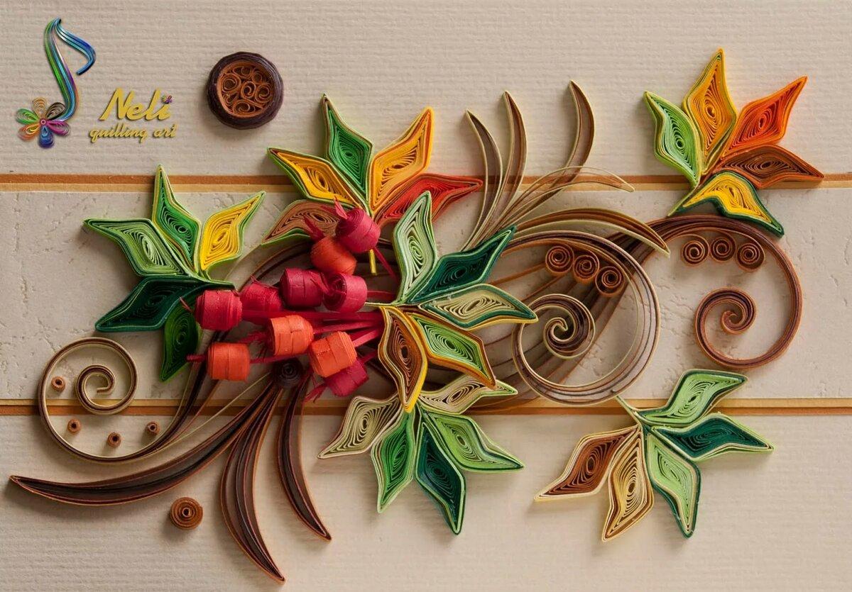 картинки из квиллинга на тему осень смотрятся кормушки