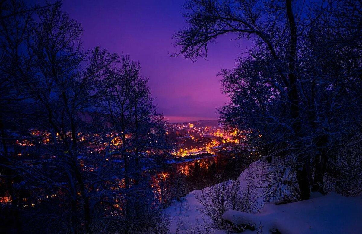 Зимняя ночь фото картинки