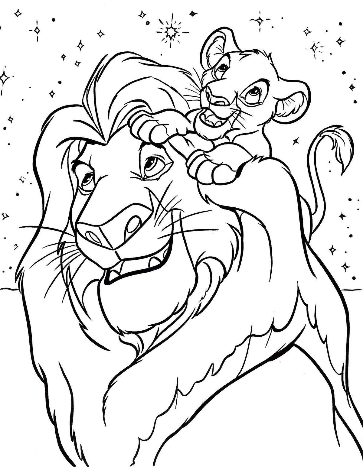 Король лев картинки печать