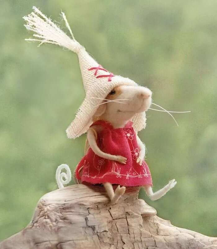 Картинка прикольной мышки, поздравление