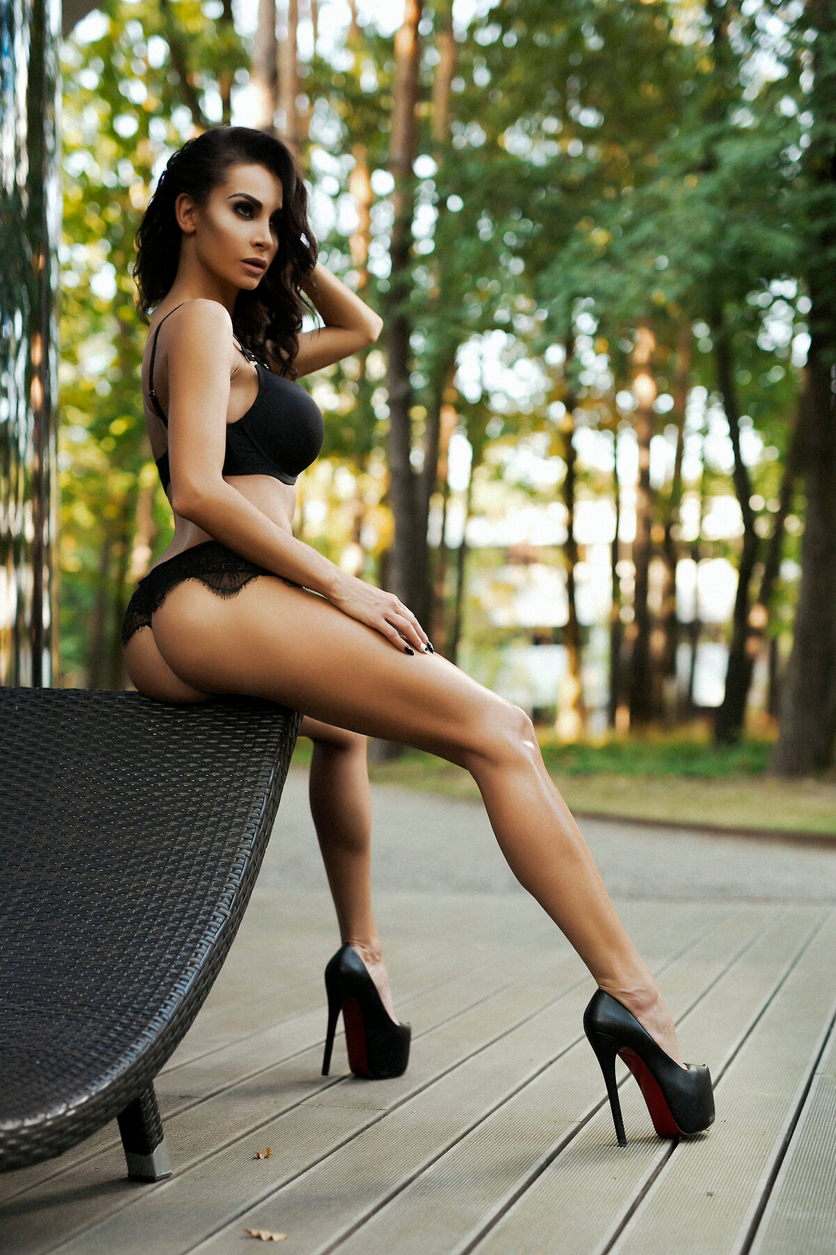 Black females with sexy legs #5