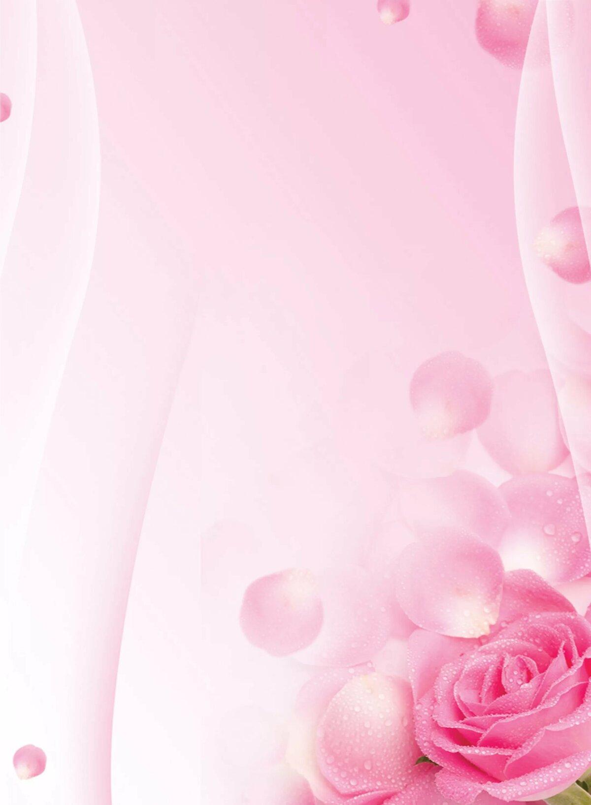 Розовый фон открытка