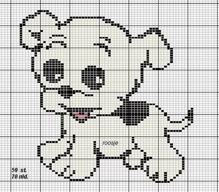 Рисунки животных для вязания на спицах