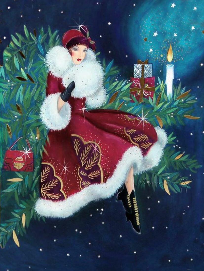 Новогодние открытка для девочки, для аватарки