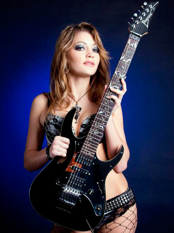 Wife butt hot girl guitar sexy