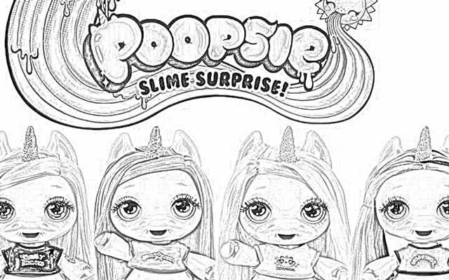 «Раскраска Poopsie Surprise Unicorn и Poopsie Sparkly ...