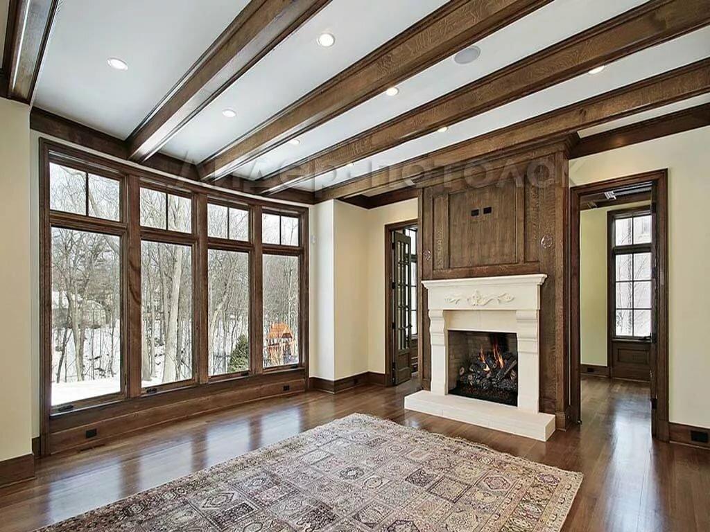 можете потолочные обои для деревянного дома фото как