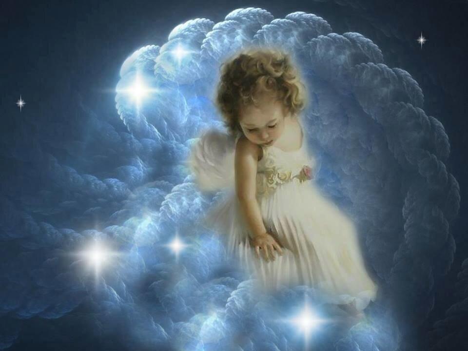 Картинки спокойной ночи ангела хранителя ко сну
