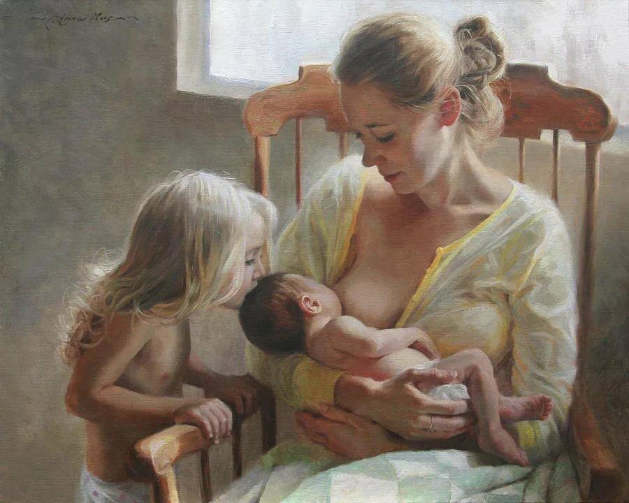Природа, материнство в картинках сары