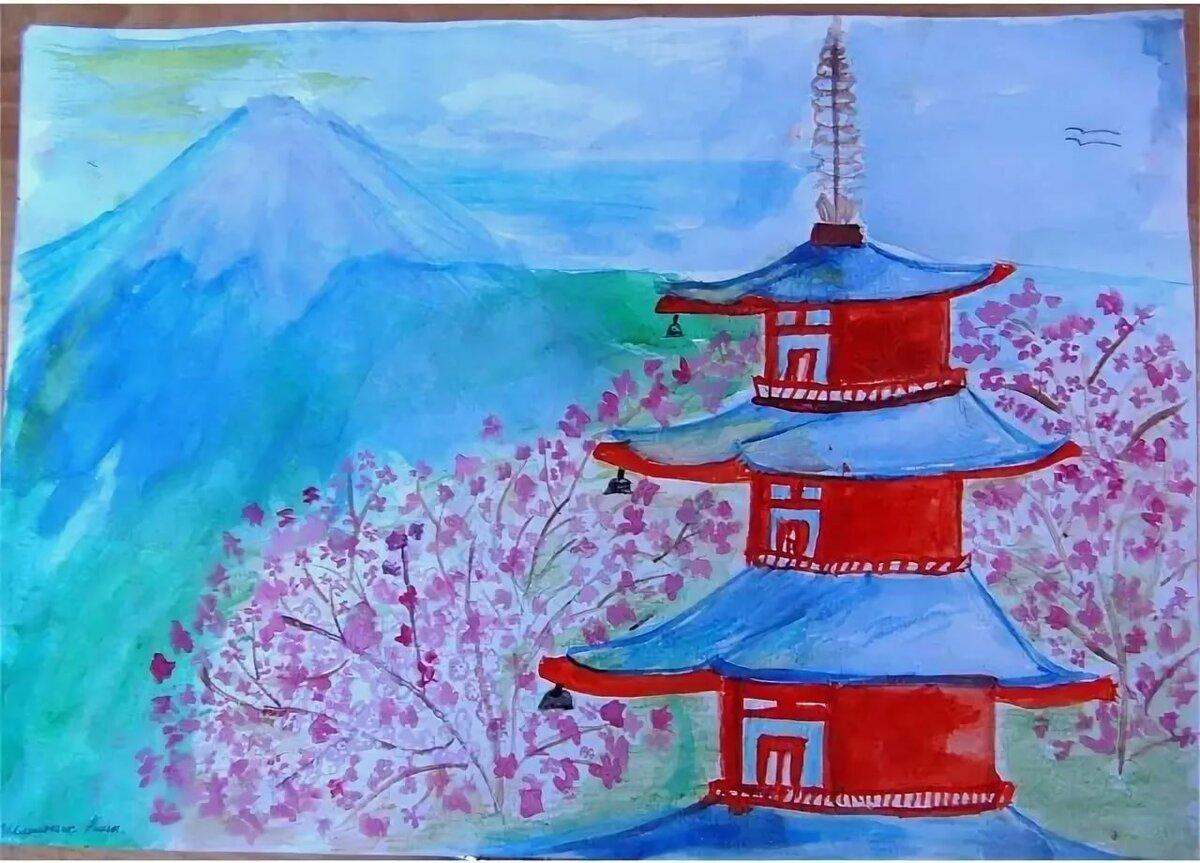 Картинки на тему япония карандашом