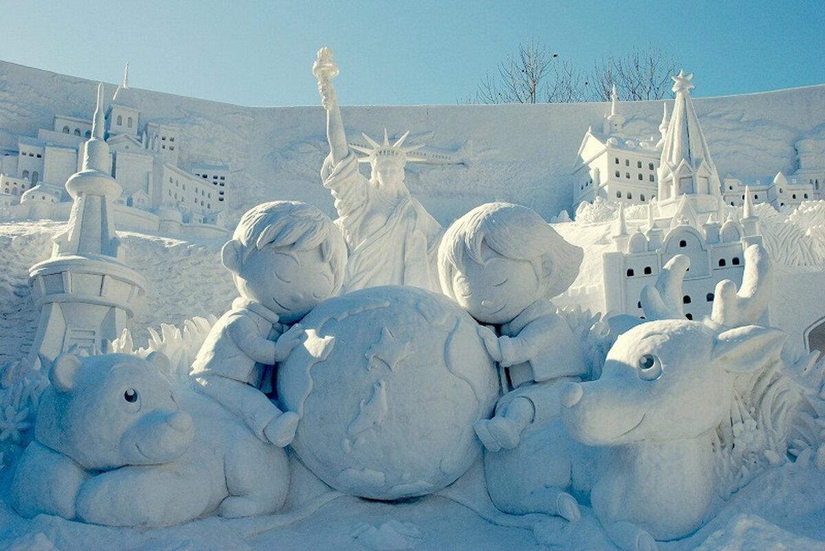 фигуры из снега фото