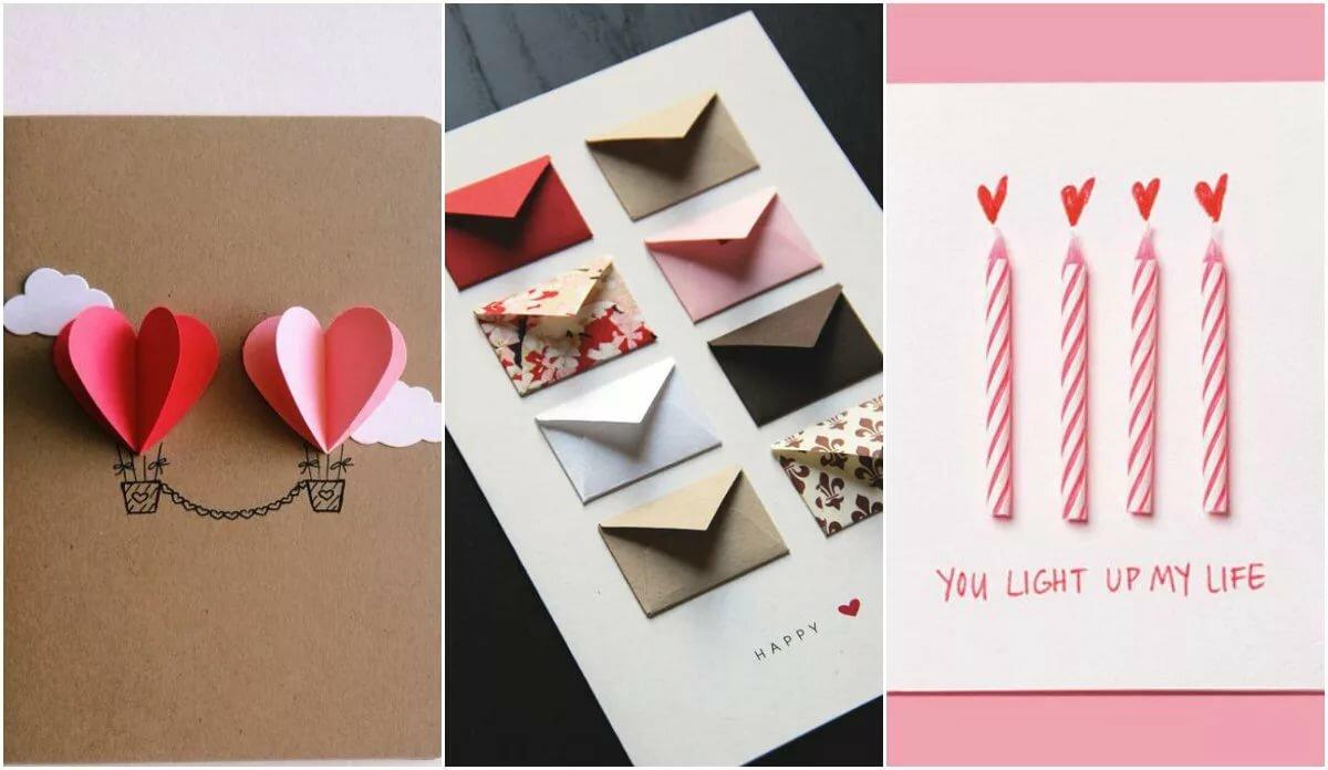 С днем рождения в день святого валентина открытки своими руками, рисунки