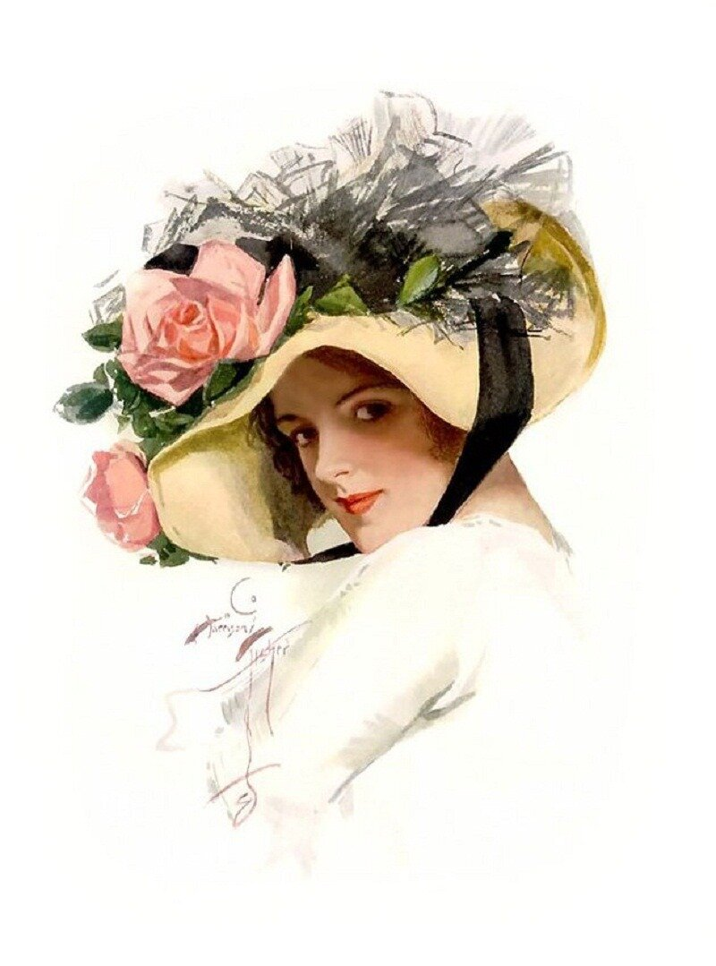 Открытки женщина в шляпе, старость прикольная прикольные