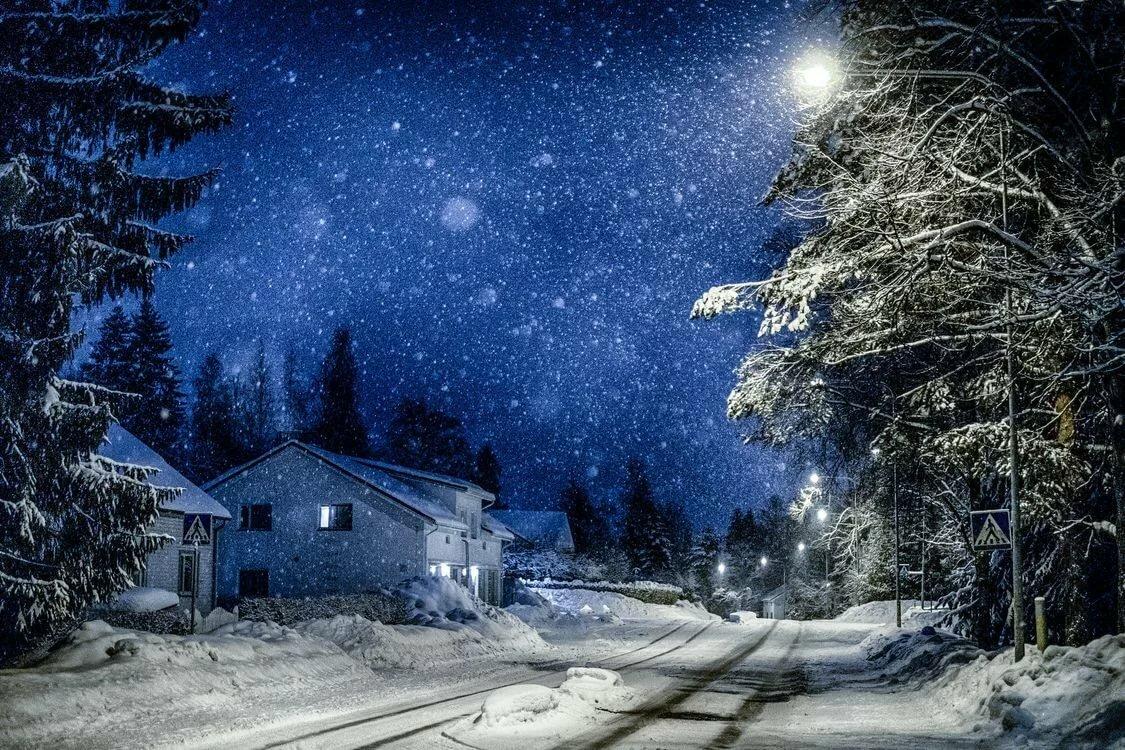 остров красивые картинки ночь зима снег картофеля, настоящее
