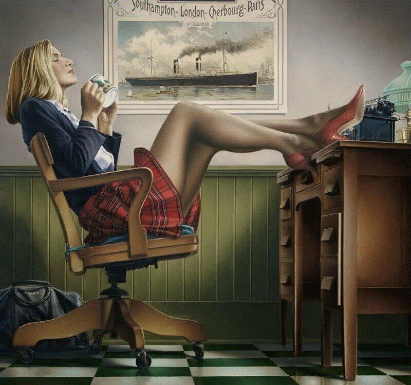Днем, прикольные картинки про женщин в офисе