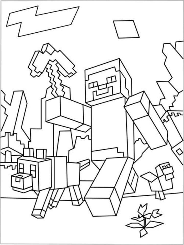 «Раскраски Майнкрафт - распечатать бесплатно» — карточка ...