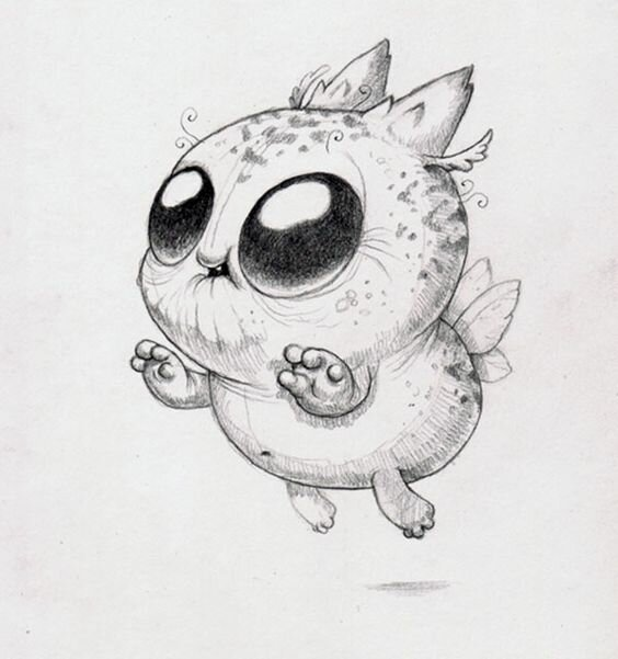 Рисунок карандашом смешные животные, дед мороз открытки