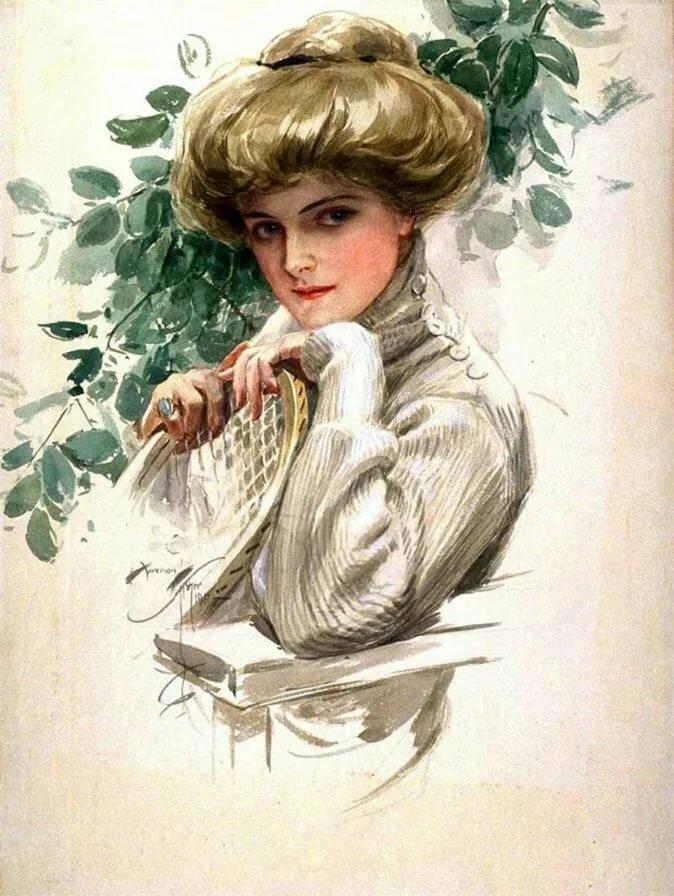 Сделать, открытки с портретом женщины