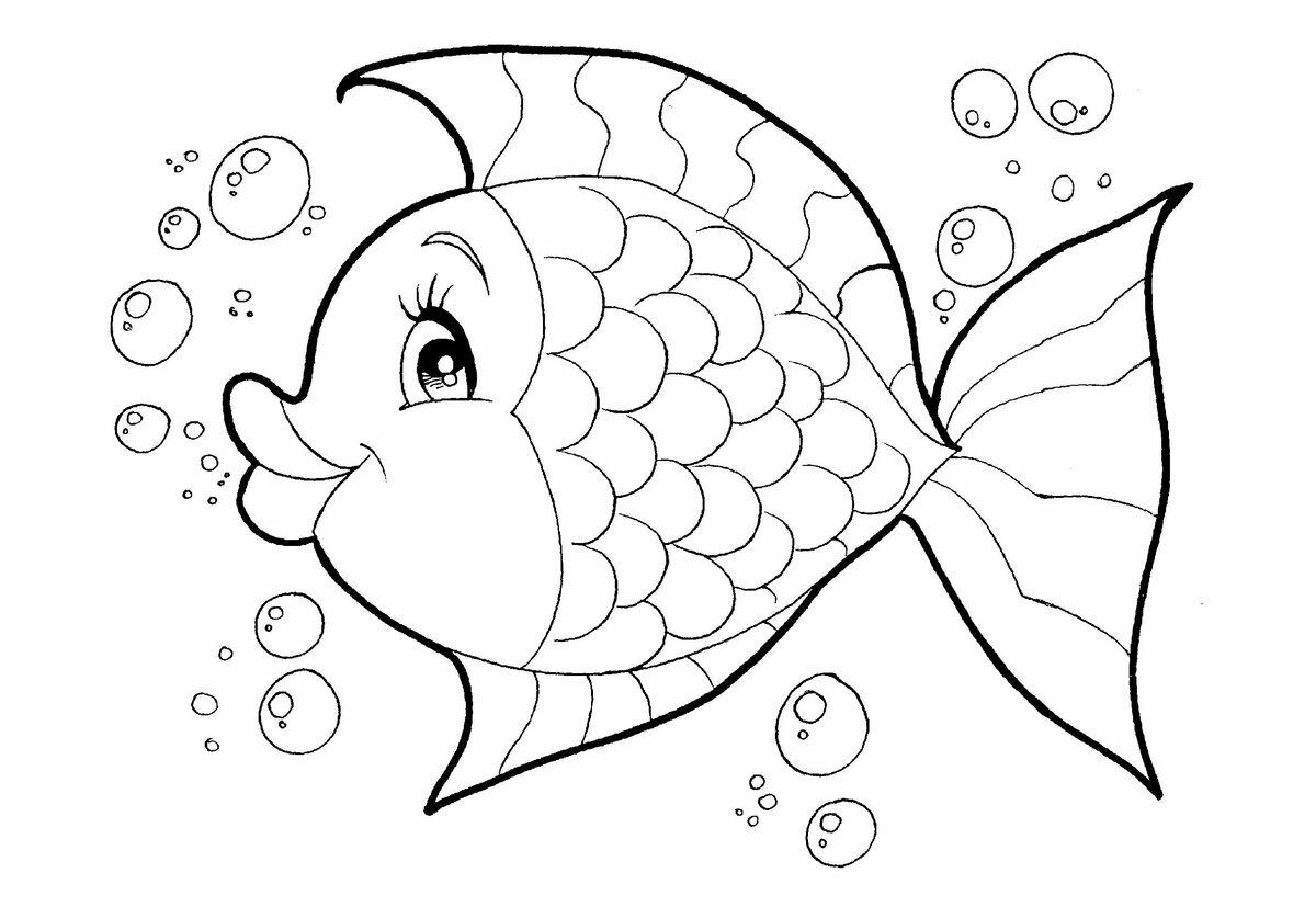 Рыбки картинки трафарет