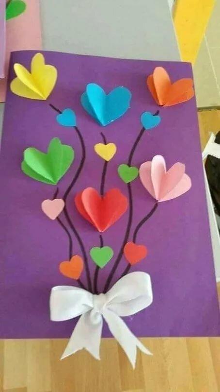 Открытки, открытки ко дню матери своими руками с детьми средней группы