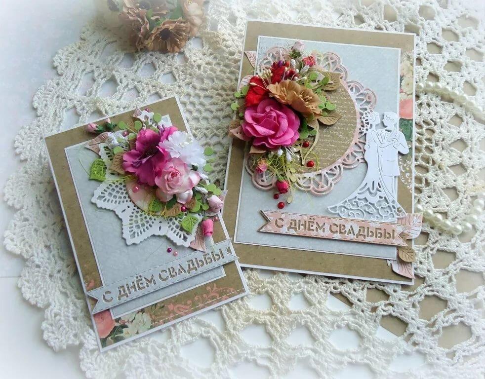 День, свадьба открытка скрапбукинг