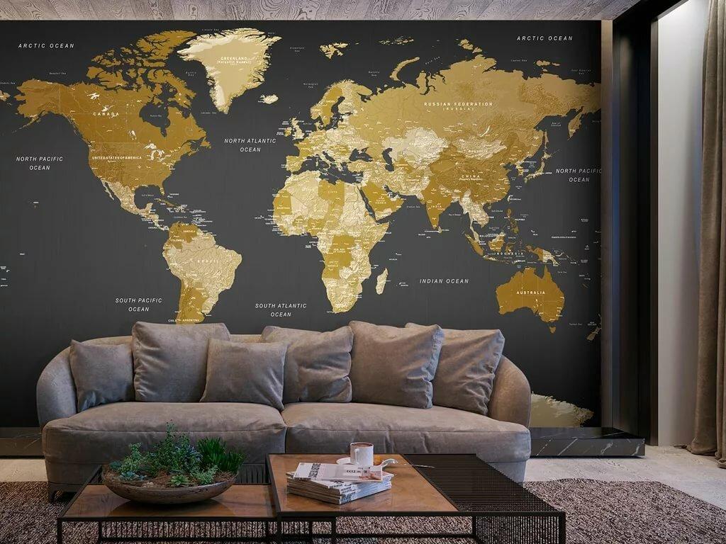 полны обои география на стену в интерьере фото гайки порядке