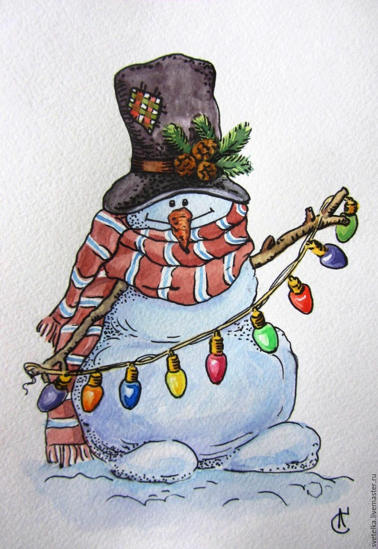 Открытки с снеговики
