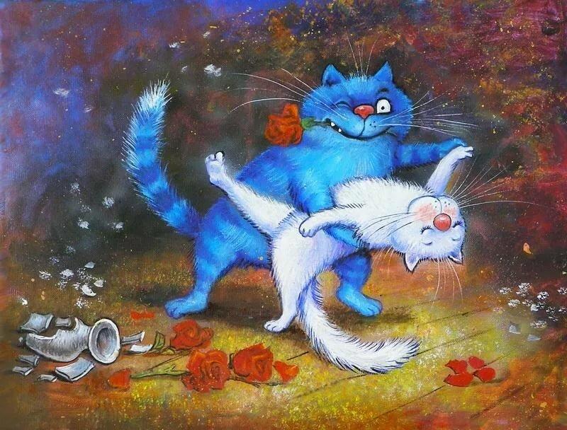 Коты ирины зенюк картинки любовь, ханов