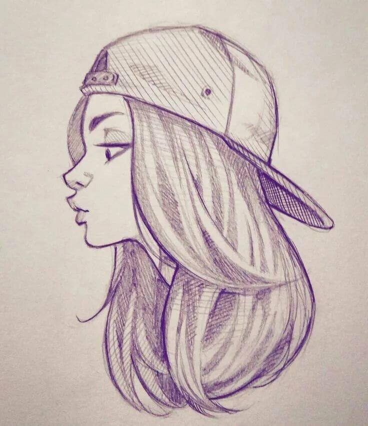 Прикольные рисунки карандашом девушки