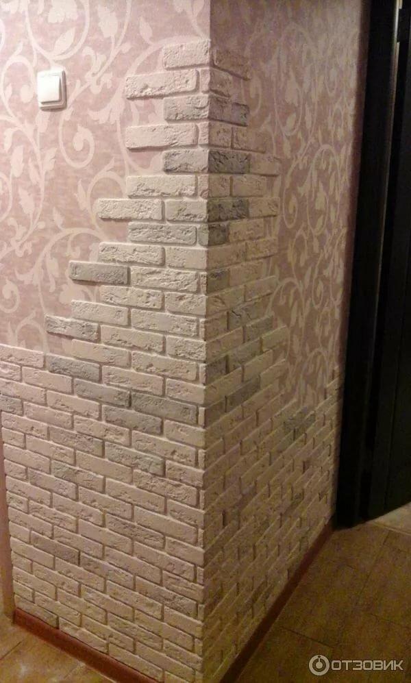 угол стены под кирпич