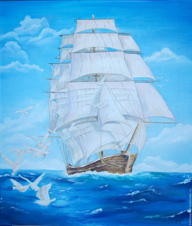 споры красивые рисунки кораблей красками как
