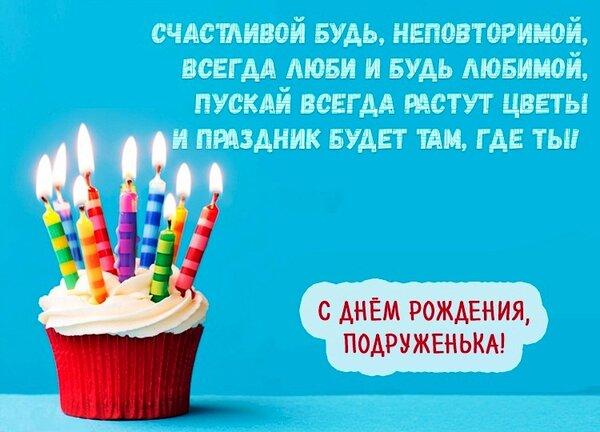 Поздравление подруге в день рождения веселое поздравление